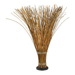 Kenroy - Kenroy 21065NR Sheaf Floor Lamp - Truly unique, Sheaf initially appears to be a gathered bundle of reeds, but its fanned top conceals a hidden light that gently illuminates the warm finish.  The effect can be country or nautical, but always stands out.