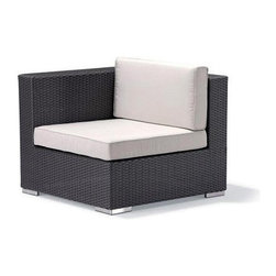 Caluco - Dijon Sectional Right - The Dijon Sectional Right combines style, durability, and comfort to provide unmatched value in outdoor seating.  Pictured in the CH dark java wicker.