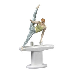 US - 8.5 Inch Porcelain Figure Male Gymnast Performs Pommel Horse Flare - This gorgeous 8.5 Inch Porcelain Figure Male Gymnast Performs Pommel Horse Flare has the finest details and highest quality you will find anywhere! 8.5 Inch Porcelain Figure Male Gymnast Performs Pommel Horse Flare is truly remarkable.