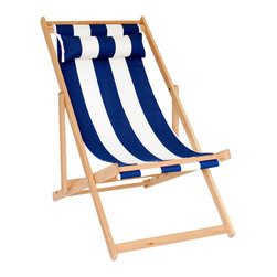 Gallant & Jones - Venice Beach Chair - Deck chair with Fabric Sling and Pillow