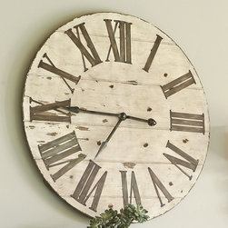 Ballard Designs - Lanier Wall Clock - A big, bold-faced clock adds rustic character to a room.