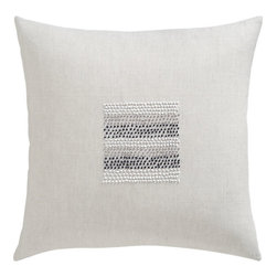 Center Beads Pillow - This is an incredibly creative way to use texture and pattern.