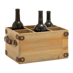 Exclusively Designed Wood Wine Caddy - Description: