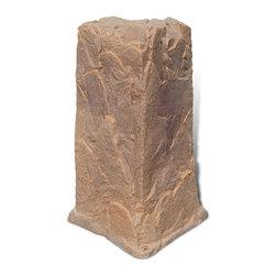 "Dekorra - Fake Rock Pedestal Cover-Model 113, Autumn Bluff - 18""L x 17""W x 34""H; 8 lbs"