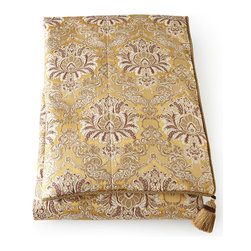 """Dian Austin Couture Home - King Brocade Duvet Cover 108"""" x 95"""" - BRONZE (95""""L X 108""""W) - Dian Austin Couture HomeKing Brocade Duvet Cover 108"""" x 95""""Designer About Dian Austin Couture Home:Taking inspiration from fashion's most famous houses of haute couture the Dian Austin Couture Home collection features luxurious bed linens and window treatments with a high level of attention to detail. Acclaimed home designer Dian Austin introduced the collection in 2006 and seeks out extraordinary textiles from around the world crafting each piece with local California artisans."""