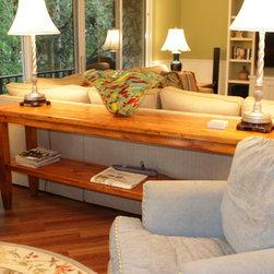 Beach style condo FL. - Custom pine sofa table
