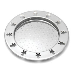 """Alessi - Alessi AKK80/15 Mini Girotondo Bottle Coaster (Set of 2) - BottleCoaster in an 18/10 stainless steel mirror polished finish with anti-suction. The strength of """"Girotondo"""" as an icon was confirmed in 2006 after its family of objects was incorporated in the A di Alessi brand. Here it is played out in a collection of miniatures, centered on specific new typologies.Itssimplicity arose from a series of reflections that turned it into an object-manifesto and, in a nutshell, held the idea of how subsequent products would be developed. Abook of about fifty sketches covering various typologies were presented to Alessi by the designers. They were all elementary forms, each with the recurring theme of the perforated little man applied to them. Behind this icon was the expressed desire to skipthe lessons of the masters of design and find out how, in a completely different way, an object could communicate with and represent the new world of commodities and consumption that came to characterize the 1990s. More than twenty years since the release of the legendary """"Girotondo,"""" the icon of the little man has maintained his characteristic modernity fresh and cool. In scaling it down to """"Mini Girotondo"""", it becomes even more graceful, inspiring on one hand the playful feeling of a doll house, while on the other it generates new functions and rituals. Manufactured by Alessi.Designed in 2010."""