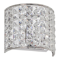 Dainolite - Dainolite 1LT Crystal Sconce - 1 Light Crystal Sconce, Polished Chrome