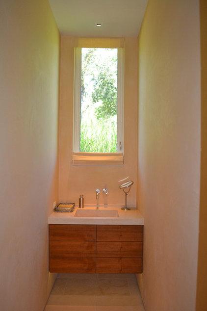 Contemporary Powder Room by Donahue Paye Interior Design