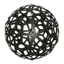 David Trubridge Coral 600 Pendant Lamp, Stain Black 2S