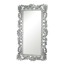 Sterling Industries - Reede Venetian Full Length Mirror By Sterling - A strong tradition of Sterling Industries is uncompromised quality.  Expect top craftsmanship with this true beauty.  A truly unique and elegant piece, the Reede Venetian Full Length Mirror by Sterling features gorgeous etchings and a layered style. The outside frame is made of individual ornate layers of mirror with delicate etchings of flowers and scrolls, each hand