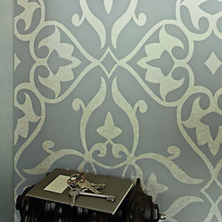 Ornamental Floral Pattern Wallpaper