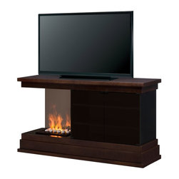 "Dimplex - Dimplex Debenham Opti-Myst Electric Fireplace Media Console Multicolor - GDSOPL- - Shop for Fire Places Wood Stoves and Hardware from Hayneedle.com! Make a bold contemporary statement in your living room with this Dimplex Debenham Opti-Myst Electric Fireplace Media Console. This stunning design comes with the patented Opti-myst fireplace which has smoke and mist which look like real flames but are safe emission free and 100% efficient. The media console surface easily fits a widescreen TV up to 60 inches. About DimplexDimplex North America Limited is the world leader in electric heating offering a wide range of residential commercial and industrial products. The company's commitment to innovation has fostered outstanding product development and design excellence. Recent innovations include the patented electric flame technology - the company made history in the fireplace industry when it developed and produced the first electric fireplace with a truly realistic ""wood burning"" flame effect in 1995. The company has since been granted 87 patents covering various areas of electric flame technology and 37 more are pending. Dimplex is a green choice because its products do not produce carbon monoxide or emissions."