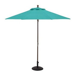 Round Market Umbrella Canopy Replacement, 9', Sunbrella(R) Solid, Aruba - Give your umbrellas a fresh, new look this season. In vibrant, sun-drenched colors and patterns, these canopies add summertime energy to your outdoor spaces. Sunbrella(R) fabric available in 9' diameter or rectangular canopies and feature a tie closure. Standard fabric available in 6' or 9' diameter, or rectangular canopies. Rectangular Canopy available as 9.8' wide x 6.5' deep. Great way to update your umbrella each season Generously sized umbrella canopies feature weather-resistant polyester canvas. Replacement canopies will fit all PB umbrella frames: Eucalyptus, Teak or Aluminum. Read more on our blog about the inspiration behind this product. View our {{link path='pages/popups/fb-outdoor.html' class='popup' width='480' height='300'}}Furniture Brochure{{/link}}.