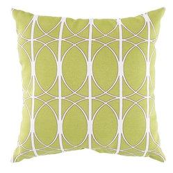 Surya Outdoor Pillow - Fern Green/Brown/Papyrus