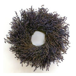 Lavender Wreath - Lavender always smells fresh, and this wreath would be such a great way to jazz up a bathroom door for the holidays.