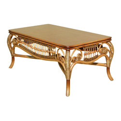 Royola Pacific - Rattan with Solid Wood Elizabeth Occasional Tables, Coffee Table - Solid wood construction w/ rattan