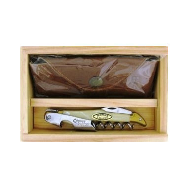 Franmara - Cepage Laguiole Waiter Corkscrew Blonde Horn Gift Set in Wood Box - This gorgeous Cepage Laguiole Waiter Corkscrew Blonde Horn Gift Set in Wood Box has the finest details and highest quality you will find anywhere! Cpage Laguiole Waiter Corkscrew Blonde Horn Gift Set in Wood Box is truly remarkable.