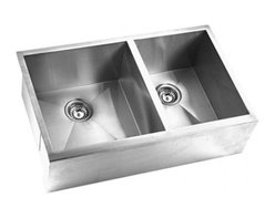 YOSEMITE HOME DECOR - Yosemite Home Decor MAGS3320DAP 16-Gauge Stainless Steel Farmhouse Double Bowl K - These high quality Yosemite sinks are a heavy gauge, type 304 (18/8), surgical grade, stainless steel for maximum durability - 18-Percent chromium (for shine) and 8-Percent nickel (for rust resistance). Stainless steel is an extremely durable surface; it can, however, be scratched or scuffed. When scuffing does occur, please remember that this is normal and the effect will become uniform with age. The high quality stainless steel does not lose its attractive shine.
