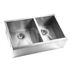 Yosemite Home Decor - Yosemite Home Decor MAGS3320DAP 16-Gauge Stainless Steel Farmhouse Kitchen Sink - These high quality Yosemite sinks are a heavy gauge, type 304 (18/8), surgical grade, stainless steel for maximum durability-18-Percent chromium (for shine) and 8-Percent nickel (for rust resistance). Stainless steel is an extremely durable surface; it can, however, be scratched or scuffed. When scuffing does occur, please remember that this is normal and the effect will become uniform with age. The high quality stainless steel does not lose its attractive shine.