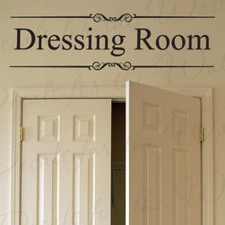 Decals for the Wall - Wall Decal Quote Vinyl Sticker Art Lettering Decoration Dressing Room Closet O13 - This decal says ''Dressing Room''