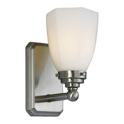 Norwell Lighting - Norwell Lighting 8521 1 Light Wall Sconce from the Williams Collection - Contemporary / Modern 1 Light Wall Sconce from the Williams CollectionThis series features a rectangular cast backplate with a stepped shade holder. Choose either hexagonal or round mouth-blown glass.Features: