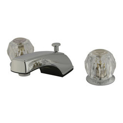 Kingston Brass - Two Handle 8in. to 16in. Widespread Lavatory Faucet with Brass Pop-up - Two Handle Deck Mount, 3 Hole Sink Application, 8in. to 16in. Widespread, Fabricated from solid brass material for durability and reliability, Premium color finish resists tarnishing and corrosion, 1/4 turn On/Off water control mechanism, 1/2in. IPS male threaded inlets with rigid copper piping, Duraseal washerless cartridge, 2.2 GPM (8.3 LPM) Max at 60 PSI, Integrated removable aerator, 7in. spout reach from faucet body, 3-3/4in. overall height.