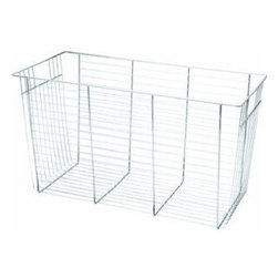 "SCHULTE DISTINCTIVE STORAGE - 7510140634 6 In. Chrome ACC Basket - Freedomrail 6"" chrome basket"