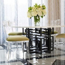 Traditional Dining Tables by Jamie Herzlinger