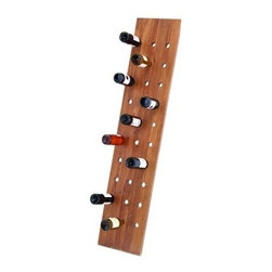 Woodland Imports 65 in. Straight Polished Wood 30 Bottle Wine Rack - Make a statement of contemporary style with the uber chic Woodland Imports 65 in. Straight Polished Wood 30 Bottle Wine Rack. Handcrafted of premium, solid wood, this handsome floor rack carries up to 30 of your favorite wine bottles. With clean lines, minimal details and a glossy, natural finish, it's designed to highlight your collection, not overwhelm. Imported from Indonesia.