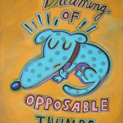 Hal Mayforth - Dreaming of Opposable Thumbs Giclee Print From Hal Mayforth - Limited Edition