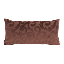 Howard Elliott - Howard Elliott Blur Chocolate Kidney Pillow - Kidney pillow blur chocolate