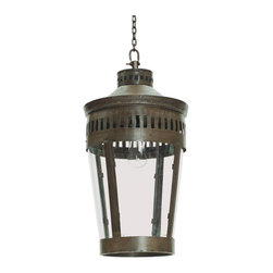Hudson Lantern - This polished and poised Hudson Lantern helps any place to find its shine. With a classic lantern design it is finished in striking and unique Blackened Patina.