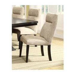 Homelegance - Avery Side Chair - Set of 2 - Set of 2. Upholstered back and seat. Headrest. Luxurious comfort. Linen-like chenille fabric upholstery. Rich espresso finish. 20.5 in. W x 27.25 in. D x 38.25 in. HDine in style and comfort with the Avery Collection. The Avery Collection will add comfort and style to your home dining experience.