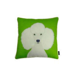 Poodle! 18X18 Pillow (Indoor/Outdoor) - 100% polyester cover and fill.  Suitable for use indoors or out.  Made in USA.  Spot Clean only
