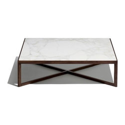 Knoll | Krusin Square Coffee Table with Marble Table Top -