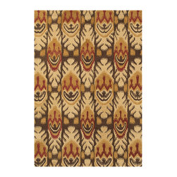 """Couristan - Sierra Vista Tucson Rug 4069/0612 - 3'6"""" x 5'6"""" - Big, bold Ikat patterns are a great way to show off your style personality, as they are always in season. For a truly eclectic feel, mix and match with other patterns. To keep your Sierra Vista area rug the center of attention, pair with neutral accents. With their warm, welcoming aesthetic, these floor coverings are sure to turn any room into the go-to hang out spot."""