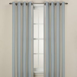"""Kensington Home Fashions - Lauren Stripe Window Curtain Panels - These elegant panels feature soft hues, stripes and attractive bottom and side hems. They'll quickly breathe life into any room and match with a variety of decors. The panels hang with grommets and fit a rod up to 1 1/2"""" in diameter."""