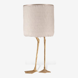 Duck Feet Lamp, Decayed Gold - Could your room use a bit more light? How about one with duck feet? This lamp is sure to get a reaction.