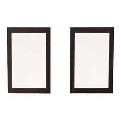 JWH Imports - Set of 2 Bathroom Mirrors with Solid Wood Trim in Espresso - Mirror. Mirror. Literally. This set of two bathroom mirrors set in espresso wood frames brightens the room while serving their purpose. Crafted of solid oak, this dashing pair is a reflection of superior taste.