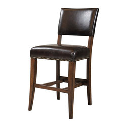 Hillsdale - Hillsdale Cameron Parson Stools in Chestnut Brown (Set of 2) - Hillsdale - Bar Stools - 4671824 -Hillsdale�s Cameron collection beautifully combines a warm Chestnut Brown wood finish with a dark gray metal and offers a multitude of choices to create the perfect Counter height dining group for your home. The parson�s stool is traditional in design and combines the warm Chestnut brown finish with the brown faux leather seat.