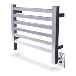 Amba - Edged 20x16 Electric Heated Towel Warmer, Polished - Dual-purpose radiator functions as towel warmer and space heater