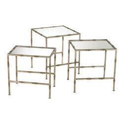 Cyan Design - Cyan Design Lighting 03068 Bamboo Nesting Tables - Cyan Design 03068 Bamboo Nesting Tables