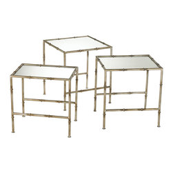 Cyan Design - Cyan Design Lighting 03068 Bamboo Nesting Tables - Cyan Design 03068 Bamboo Nesting Tables