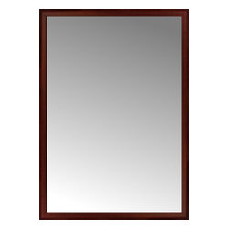 """Posters 2 Prints, LLC - 47"""" x 66"""" Ansley Mahogany Custom Framed Mirror - 47"""" x 66"""" Custom Framed Mirror made by Posters 2 Prints. Standard glass with unrivaled selection of crafted mirror frames.  Protected with category II safety backing to keep glass fragments together should the mirror be accidentally broken.  Safe arrival guaranteed.  Made in the United States of America"""