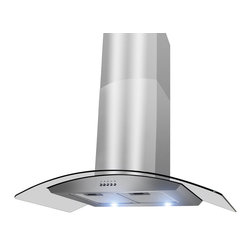 "AKDY - AKDY AG-ZH703S Euro Stainless Steel Wall Mount Range Hood, 30"" - With more convenience, performance and style, AKDY range hoods are changing the way the modern family cooks. With variable speed fan control, this hood effectively removes smoke and vapors from the kitchen. A cooktop light assists when preparing meals on the range. And, the removable grease filter is dishwasher safe. When it comes to style, these hoods can complement any kitchen decor. By incorporating multiple exhaust options and a modern appearance, AKDY provides innovative range hoods designed to accentuate today's lifestyles."