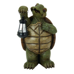 Benzara - Polystone Turtle with Led Light - If you are looking for low cost but rare to find elsewhere decor item to bring extra galore that could refresh the decor appeal of short spaces on tables or floors, beautifully carved 35516 POLYSTONE TURTLE WITH LED LIGHT may be a good choice.