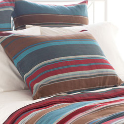 Pine Cone Hill - chalet sham - Warm harvest hues give this cotton sham an easy, earthy elegance.��This item comes in��multicolor.��This item size is��euro or std.