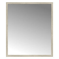 """Posters 2 Prints, LLC - 57"""" x 66"""" Libretto Antique Silver Custom Framed Mirror - 57"""" x 66"""" Custom Framed Mirror made by Posters 2 Prints. Standard glass with unrivaled selection of crafted mirror frames.  Protected with category II safety backing to keep glass fragments together should the mirror be accidentally broken.  Safe arrival guaranteed.  Made in the United States of America"""