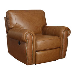 Emerald Home Furnishings - Terrell Power Leather Recliner by Emerald Home Furnishings in Brown - Terrell Power Leather Recliner by Emerald Home Furnishings in Brown